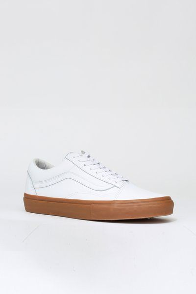 240f7477c495 Vans Old Skool Sneakers. Don t wear these babies on a rainy day. This  collab between Vans and Opening Ceremony created a dope pair of white  leather sneakers ...