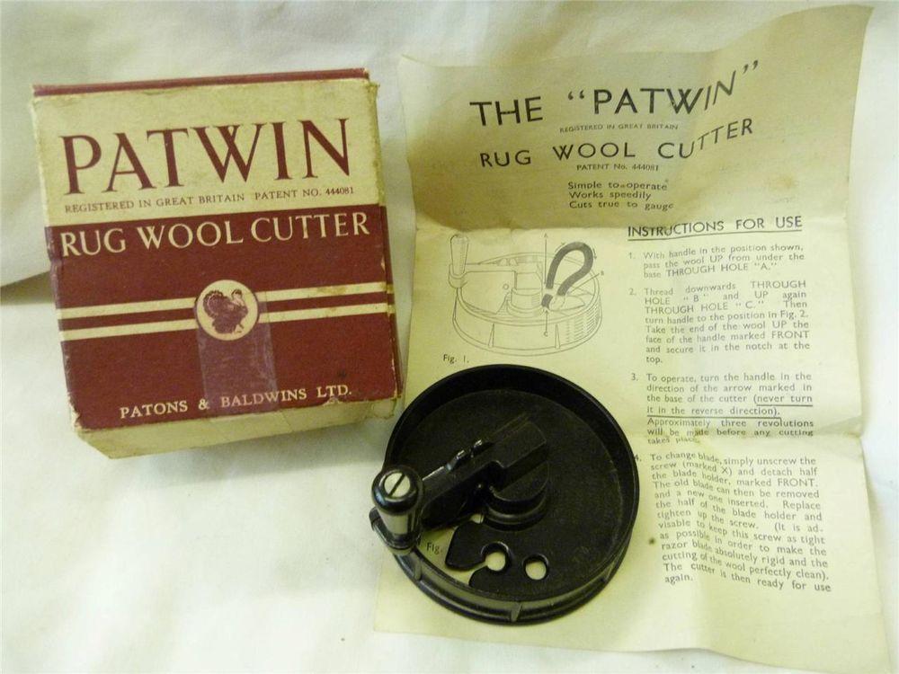 Vintage Patwin Bakelite Rug Wool Cutter