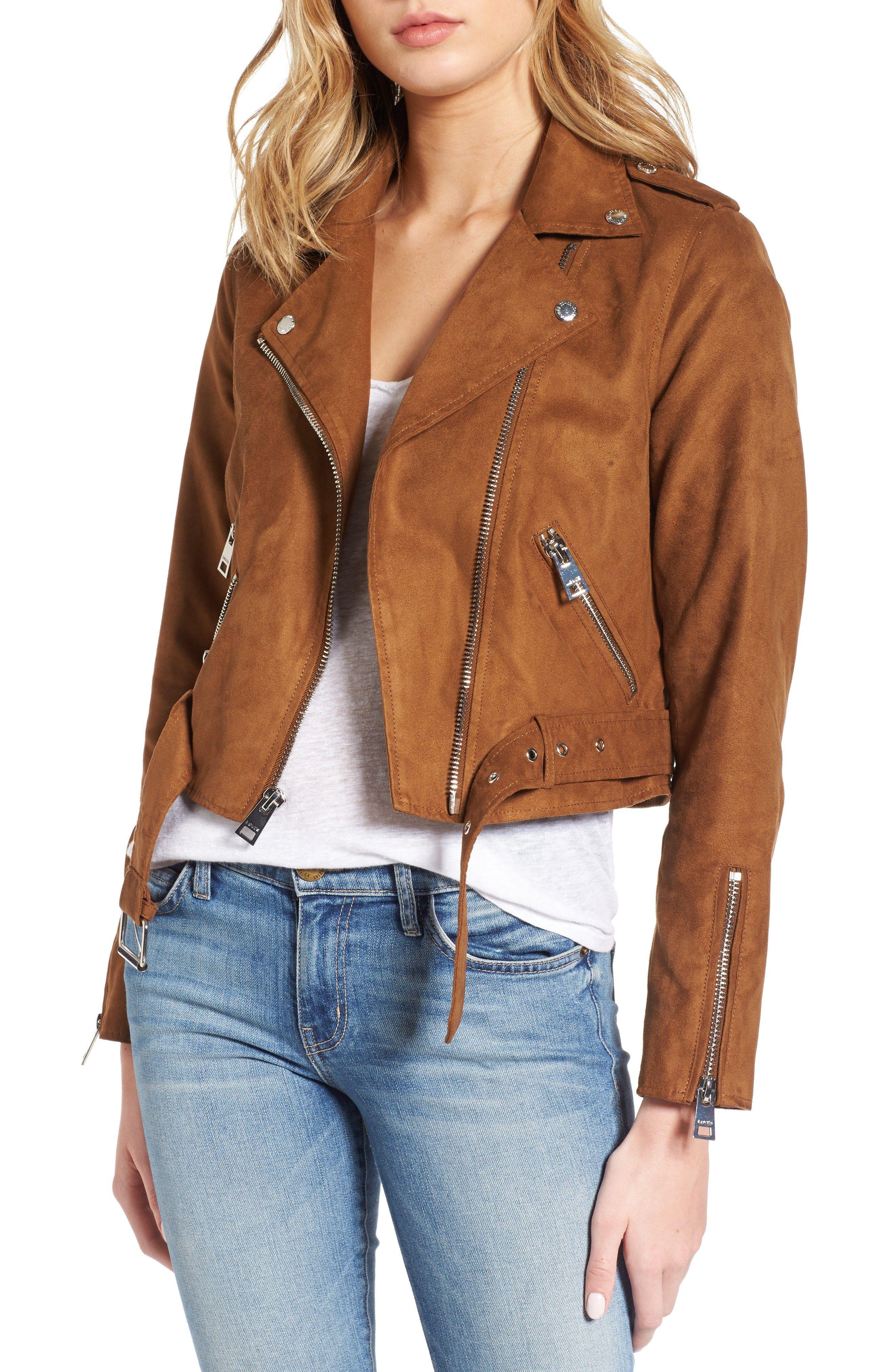 Nordstrom Fall Sale Faux suede biker jacket, Moto jacket