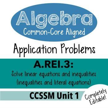 Algebra 1 Assessment A Rei 3 Solve Inequality Literal