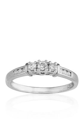 Belk  Co. White Diamond Ring in 10k White Gold
