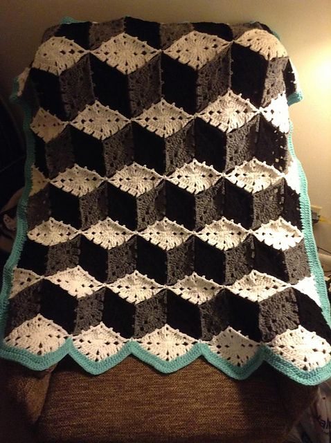 Ravelry Project Gallery For Baby Blocks Crocheted Afghan