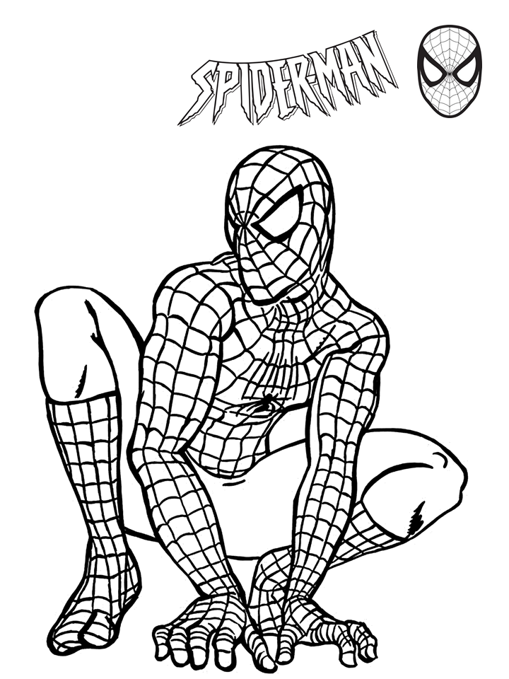 Nice Coloring Pages For Kids Pdf 17 Printable Spiderman Coloring Pages