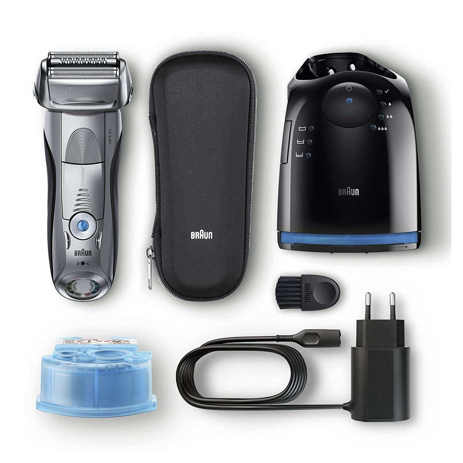 Braun Series 7 7898cc Men S Electric Foil Shaver Wet And Dry Pop Up Precision Trimmer Rechargeable And Cordless Razor With Clean And Charge Station And Travel Case Silver Best Electric