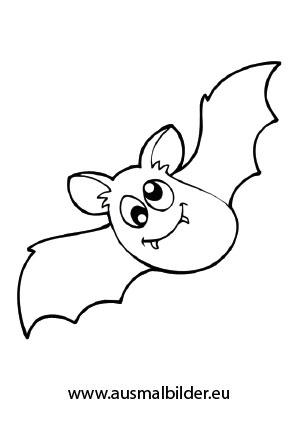 Ausmalbild Halloween Susse Fledermaus Halloween Ausmalbilder Fledermaus Ausmalbild Ausmalen