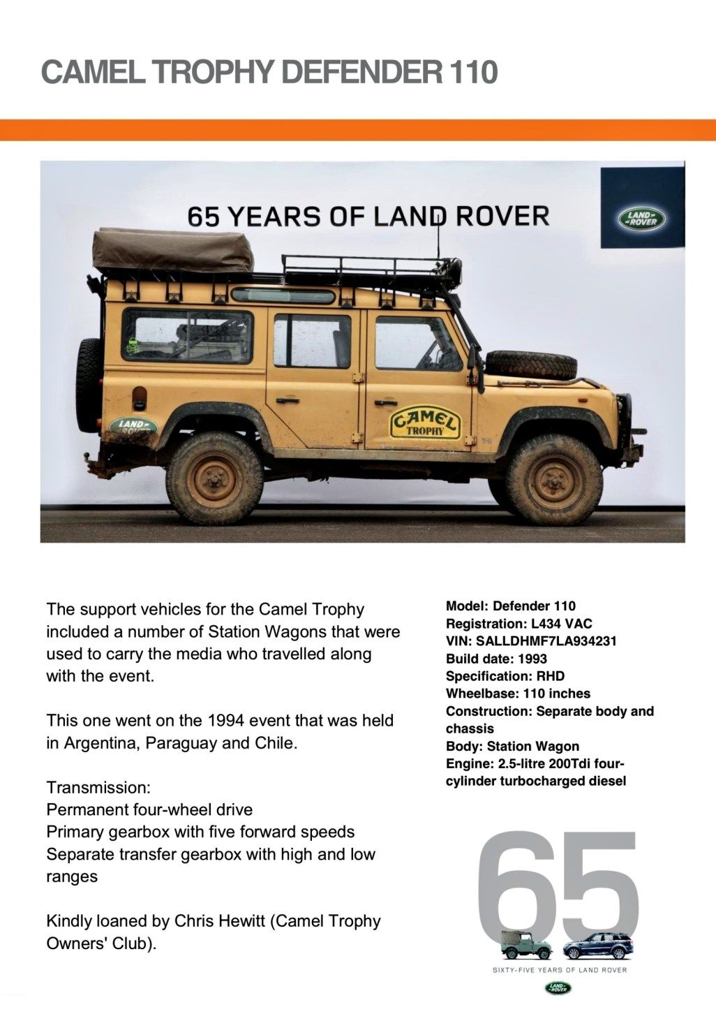65 years land rover established | land rovers