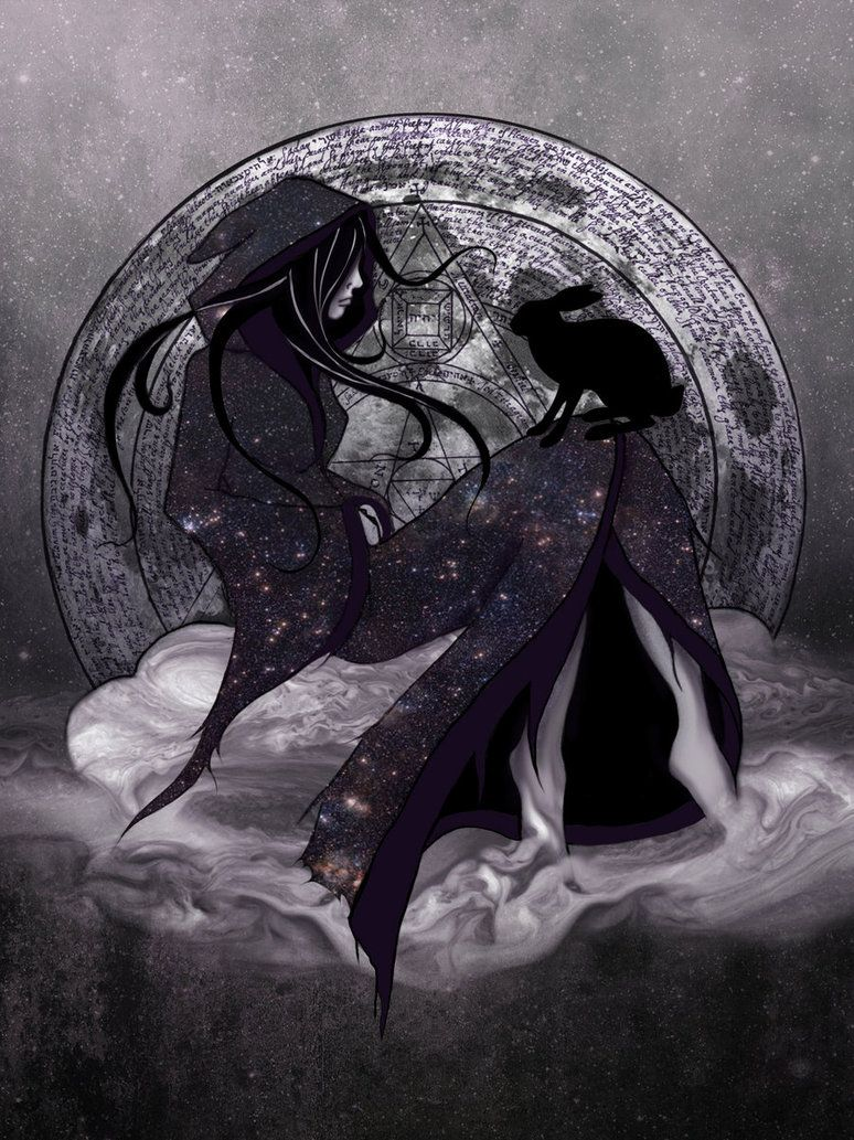 Moon Goddess and The Messenger by SynistyM