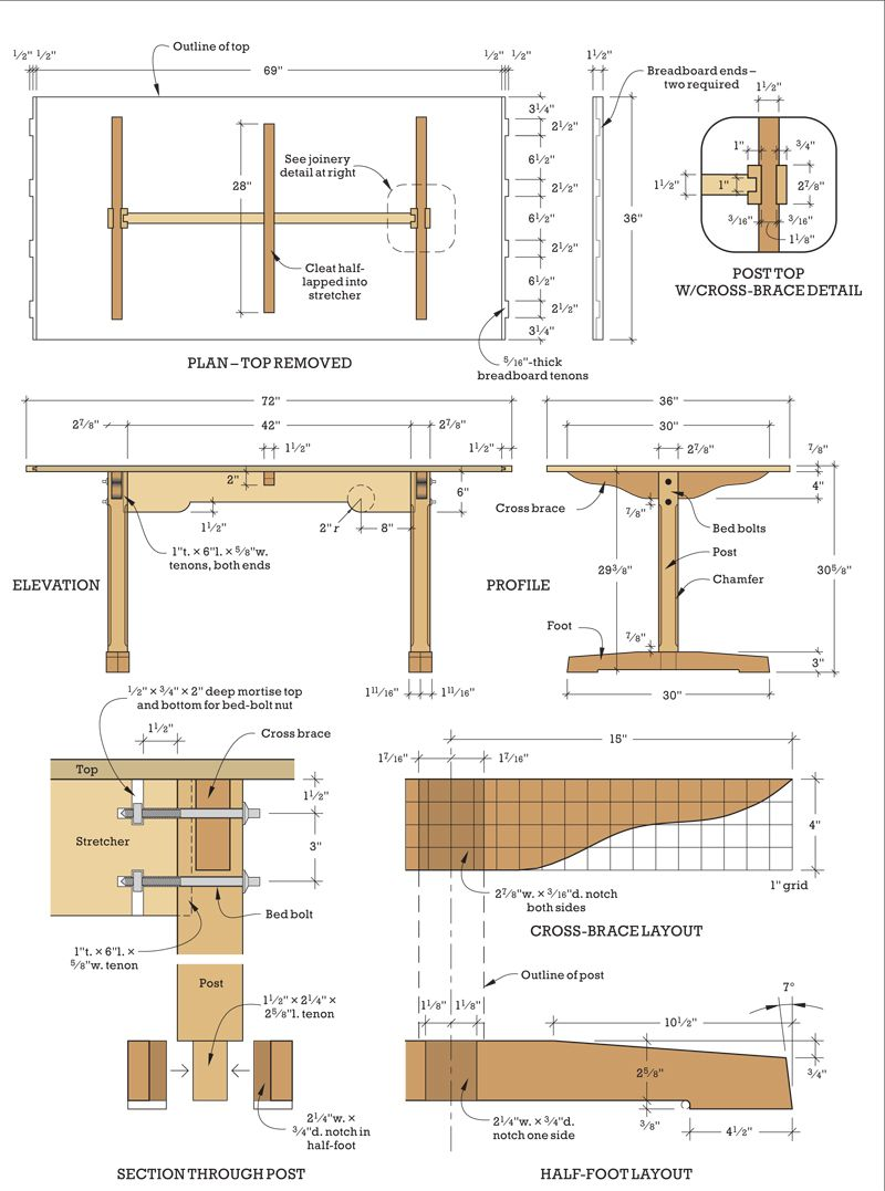 Shaker Trestle Table Trestle Table Trestle Table Plans Diy Dining Table