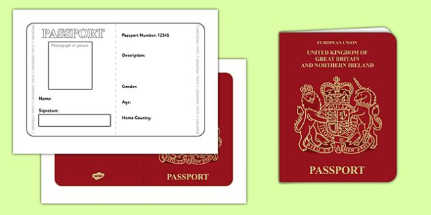 British Passport Template  After School Activities