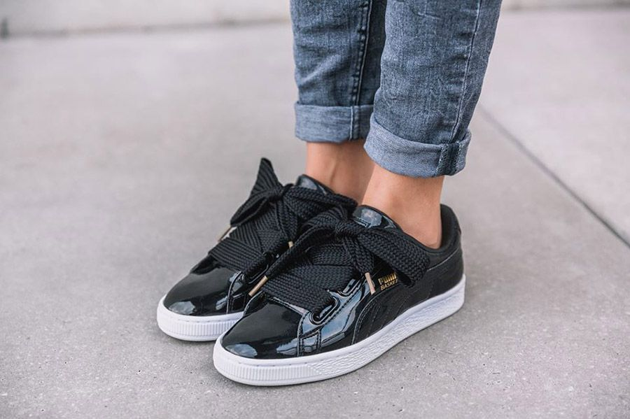 puma sneakers basket heart patent