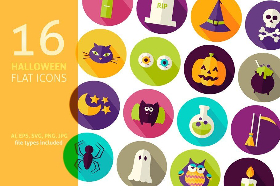 Photo of Halloween Flat Vector Invitations , #Ad, #party#Halloween#sets#invitation #affil…