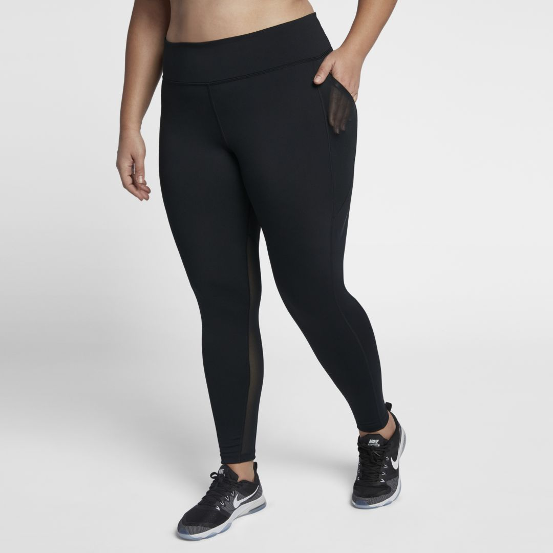 dbdfb2a6a296c Nike Power Women's High-Rise Training Tights (Plus Size) Size 1X (Black)