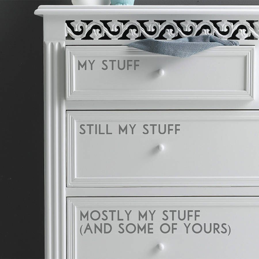 Cute idea | Drawer labels, Living room drawers