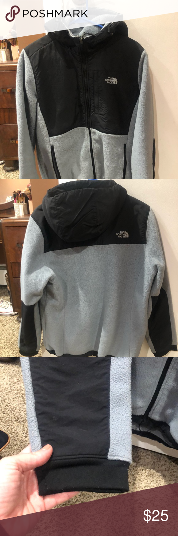 North Face Women S Large Hooded Denali 2 North Face Women The North Face North Face Jacket [ 1740 x 580 Pixel ]