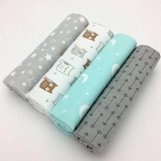 4pcs Pack 100 Cotton Newborn Colorful Blanket Cobertor De Bebe Cobertor Jogos De Cama