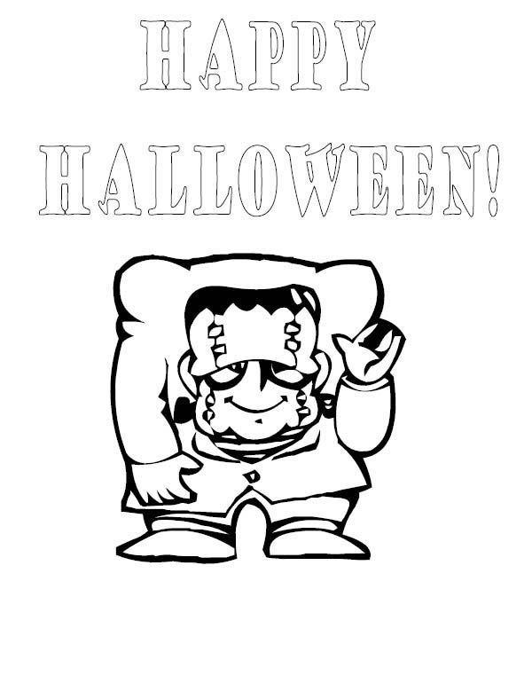 Happy Halloween Frankenstein Coloring Page Download Print Online Coloring Pages For Fre Monster Coloring Pages Frankenstein Halloween Online Coloring Pages