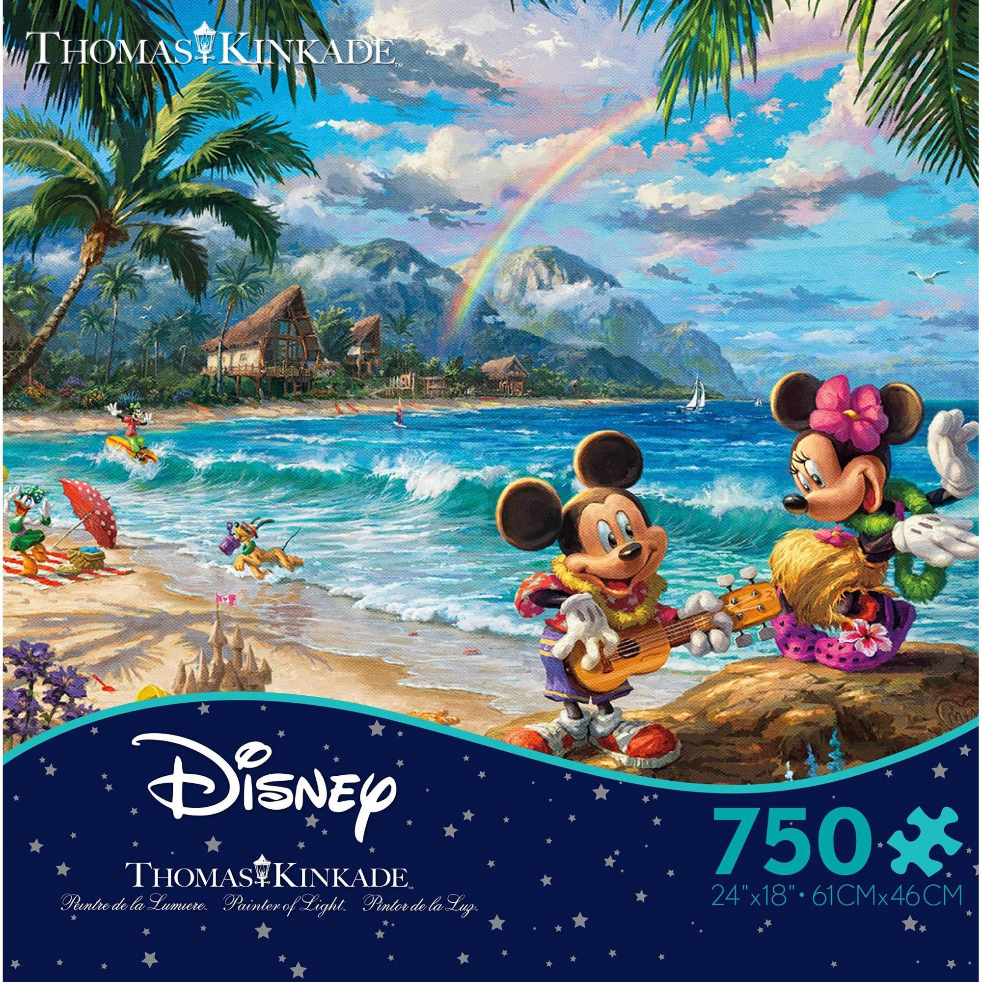 Ceaco Disney Thomas Kinkade Mickey And Minnie Hawaii
