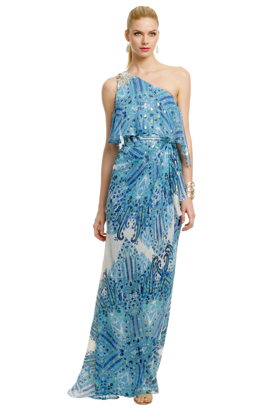 Dresses to wear to a beach wedding as a guest  Badgley Mischka Dream On Gown  This dress was just made for beach