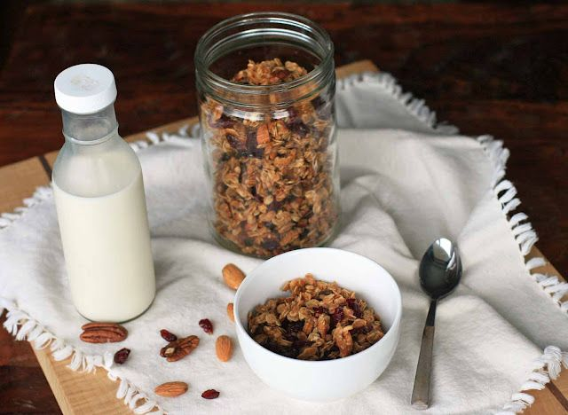 Cranberry Coconut Nut Granola | Girl Cooks World
