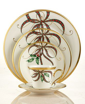 Lenox Dinnerware Exclusive Holiday Nouveau Ribbon Collection Fine China Dining Enterta Christmas China Patterns Christmas Dinnerware Christmas Tableware