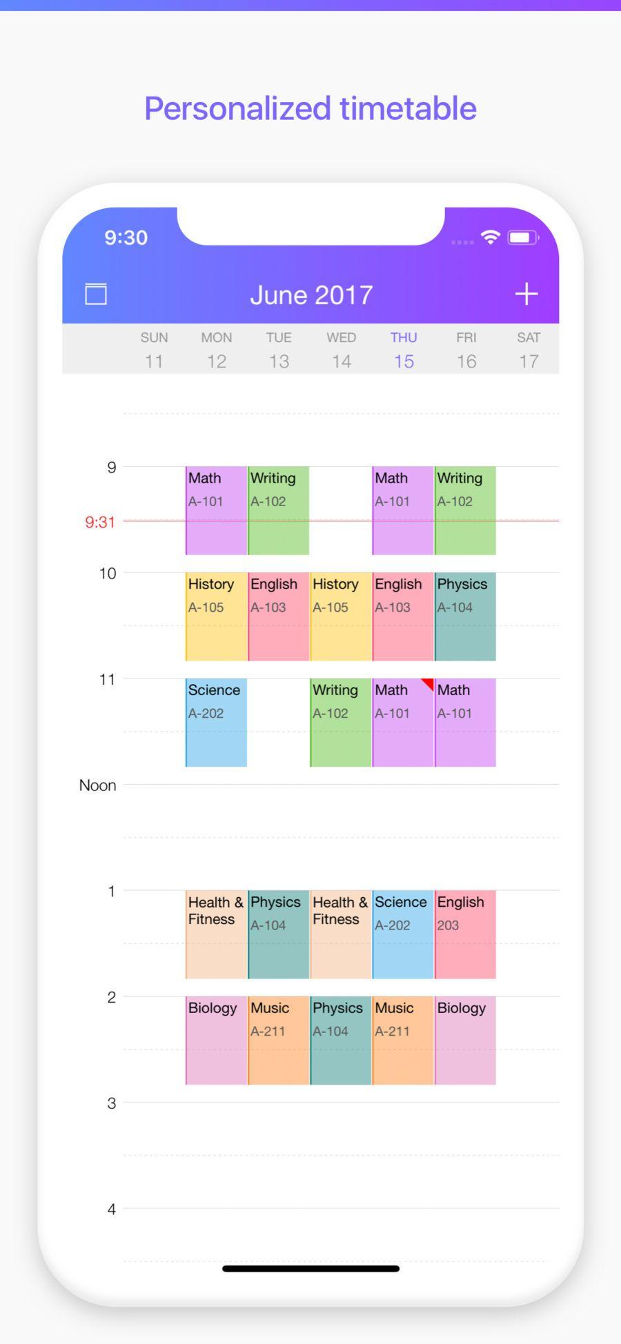 Pocket Schedule Planner iosProductivityappapps