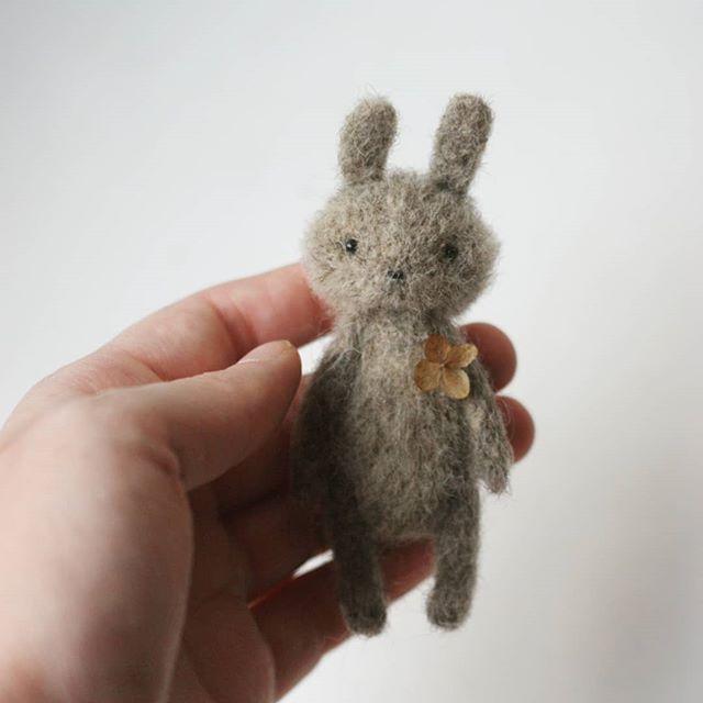needle felted bunny #needlefeltedbunny
