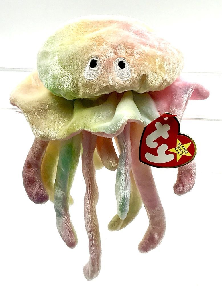 994a4f4bdcd Genuine Original ty Beanie Baby Goochy the Jellyfish collectable soft toy  Teddy