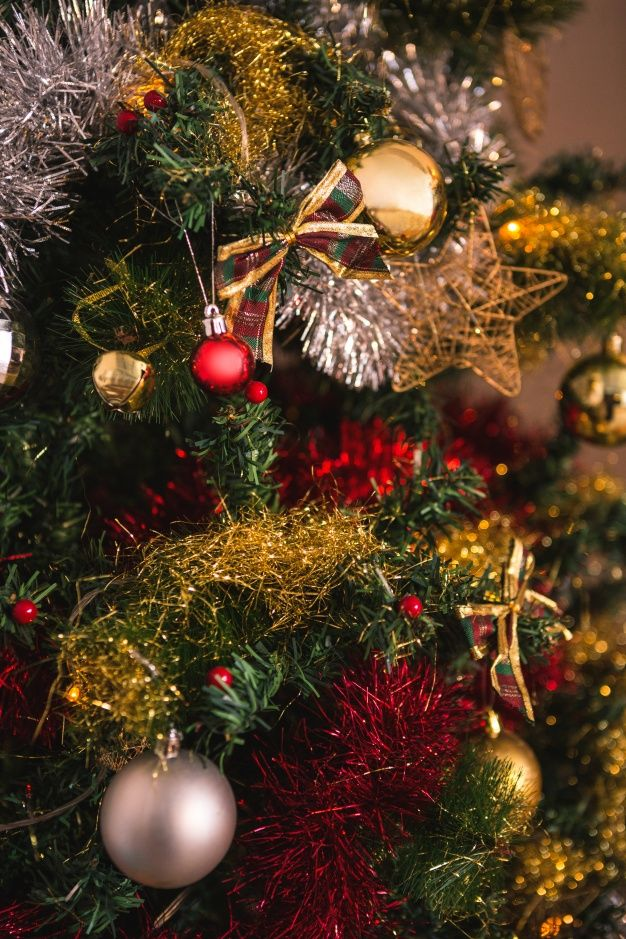 Download Close Up Of Decorative Christmas Tree For Free Christmas Wallpaper Christmas Tree Christmas Bulbs