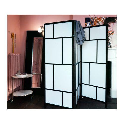 RISÖR Room divider, white, black Raumteiler ikea, Raumteiler und Ikea