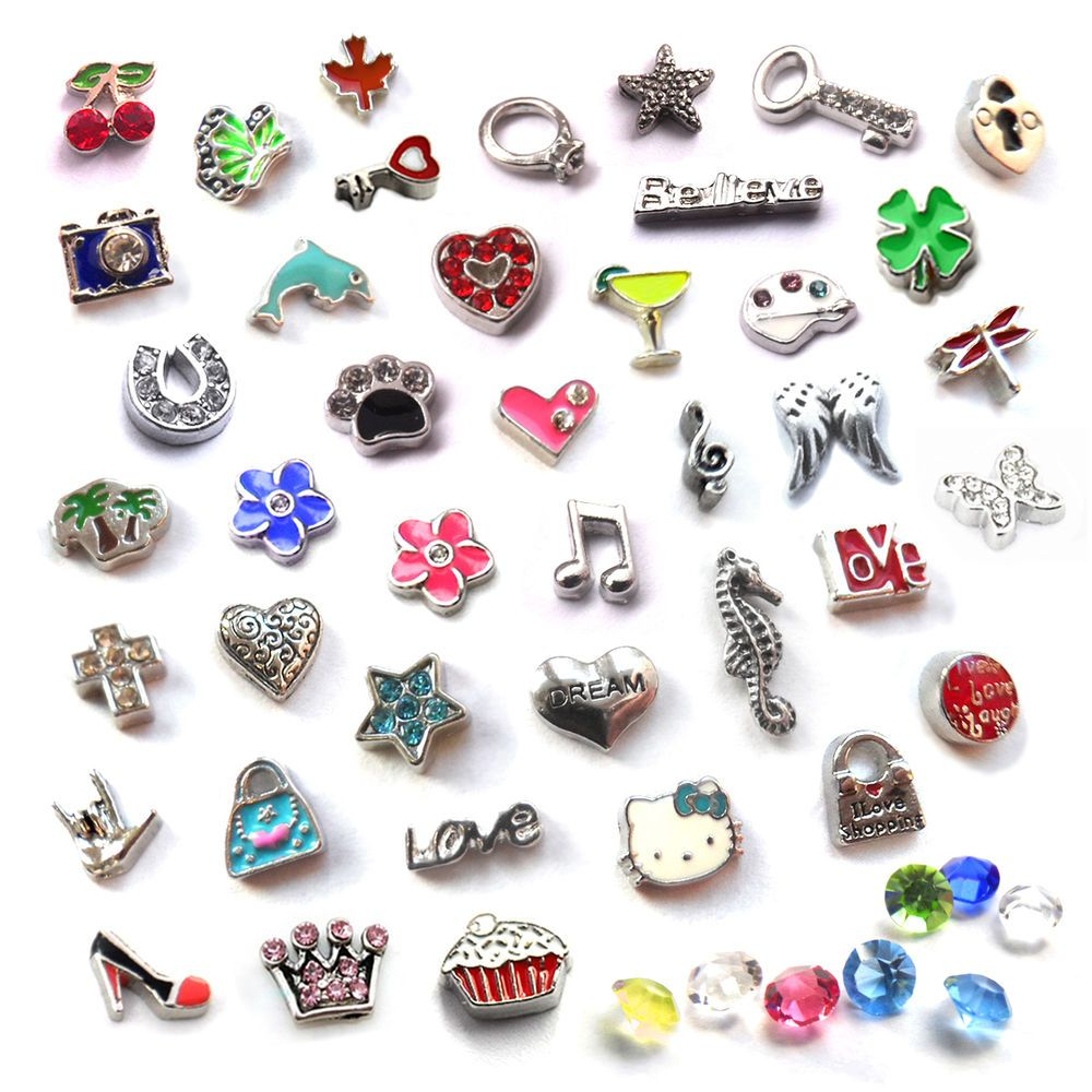 CHARMS MEMORY LOCKETS PENDANTS NECKLACES