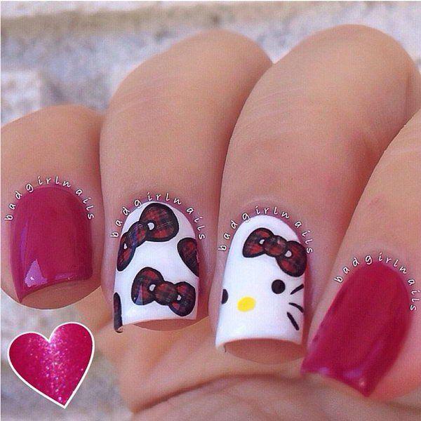 Cute And Creative Hello Kitty Nail Art Designs Best Nail Art Ideas