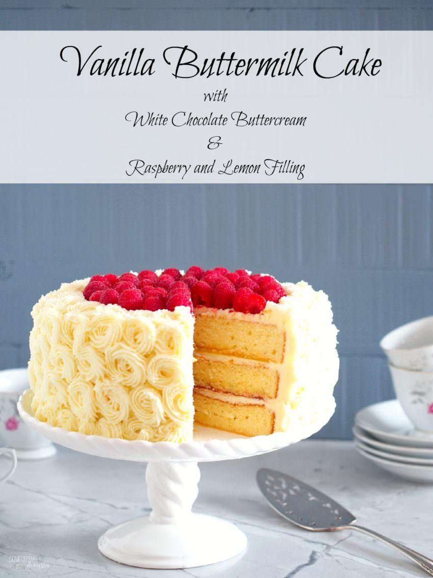 Vanilla Buttermilk Cake Recipe Moist vanilla cake White