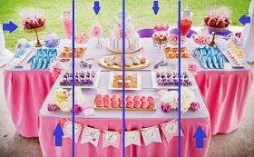 Faz que dá!: Montagem de mesa de bolo!!!
