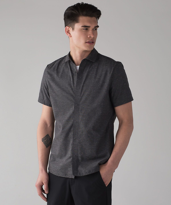 City Slate Short Sleeve Buttondown Mens tops, Men casual