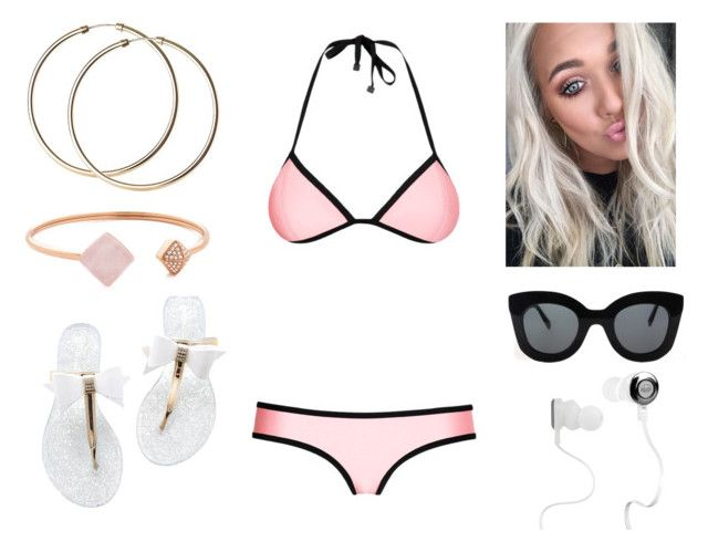 """""""Lottie at the pool"""" by annie-stylesx ❤ liked on Polyvore featuring Triangl, CÉLINE, Monster and Michael Kors"""