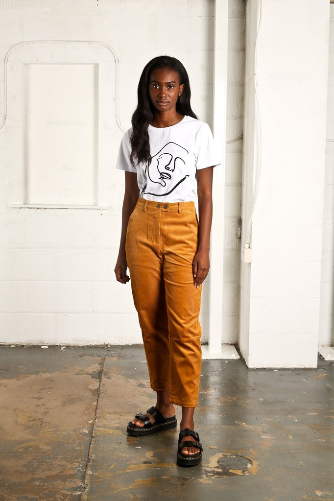 These 70s Styled Cord Pants Are Great Paired With A Classic Basic Tee And Leather Jacket