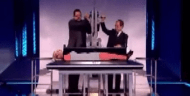 penn  teller reveals how to saw a woman in half and then
