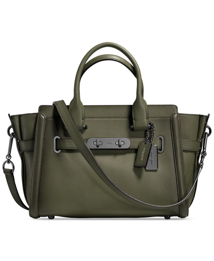 39b847074 Coach Swagger 27 in Burnished Leather... I love the olive green but a  chocolate brown, dark navy, or deep purple would also be gorgeous!