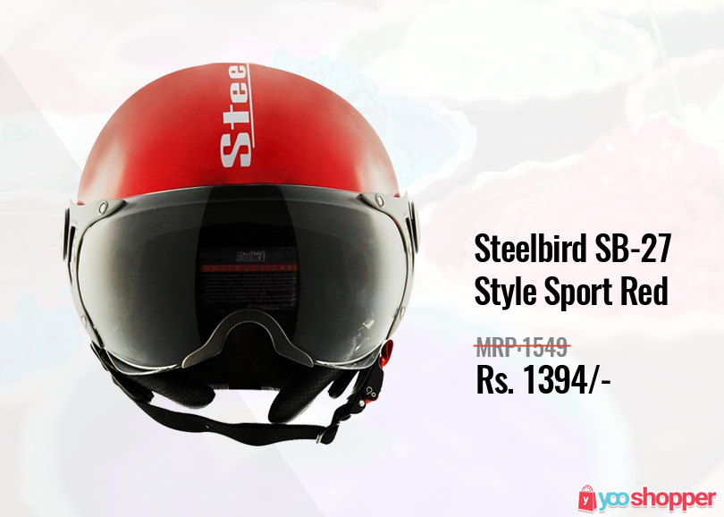 Helmet Steelbird SB27 Style Sport Red Bikers Order now
