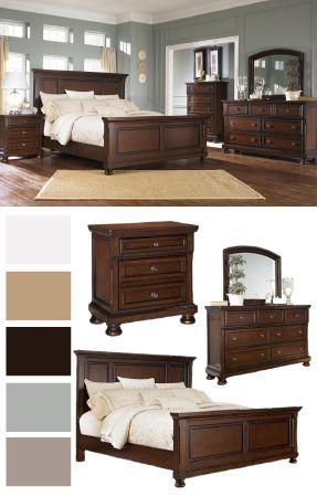 Porter King Panel Bed Ashley Furniture Homestore Master Bedroom Furniture Brown Furniture Bedroom Bedroom Sets