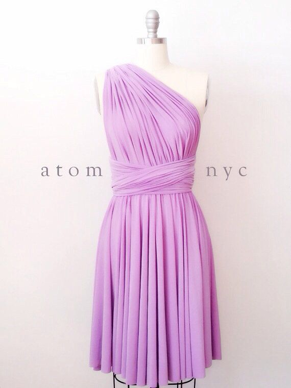 Lavender Short Infinity Dress Convertible Formal Multiway Wrap Dress
