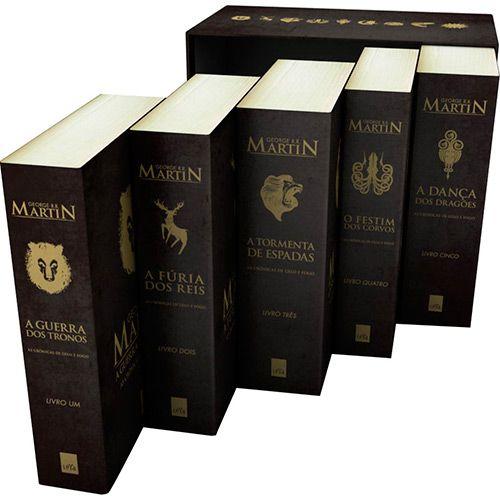 Livro Box As Cronicas De Gelo E Fogo Edicao De Bolso Com
