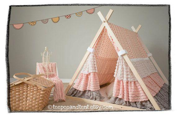 Kids Ruffle Teepee Play Tent & Kids Ruffle Teepee Play Tent   Modern playroom Playrooms and ...