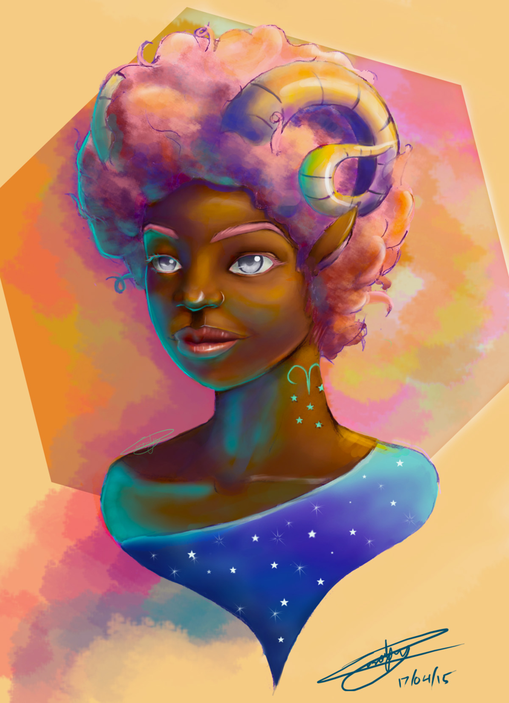 Black Women Art! – Aries Girl by weird-enough-ya | Aries art, Art, Female  art