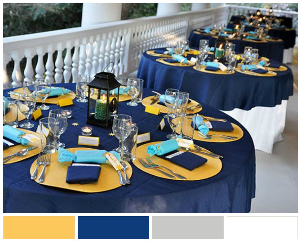 Winter Wedding Colour Scheme Mustard Yellow Royal Blue Cool