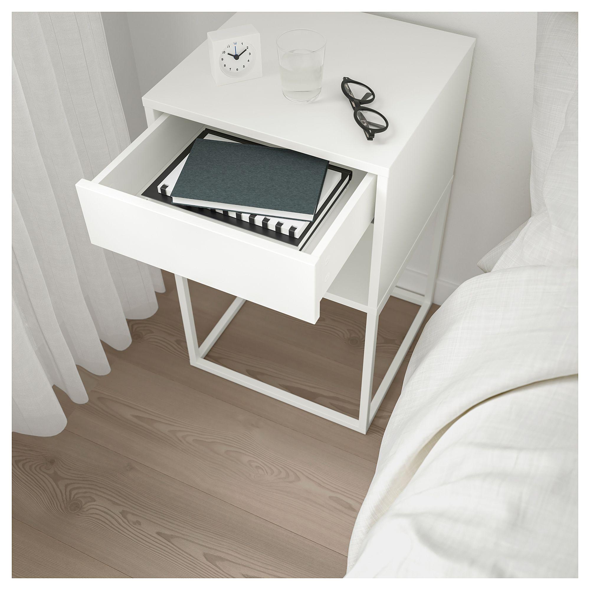 IKEA - VIKHAMMER Nightstand White