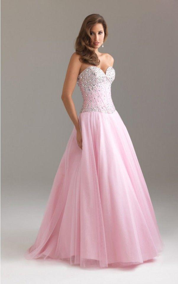 Buy UK Ball Gown Floor-length Sweetheart Pink Dress, Ladies dresses ...