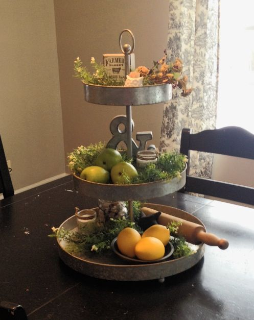 Decorate Triple Cake Stand With Fresh Fruit