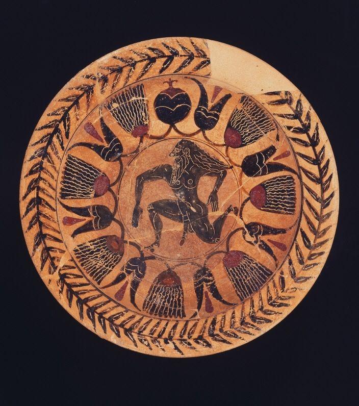 Etruscan plate  530-510 BC. © Foto: Antikensammlung der Staatlichen Museen zu Berlin - Preußischer Kulturbesitz