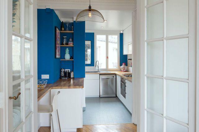 Cuisine Ouverte Sur Le Salon : Une Pièce Chaleureuse Dans Un Appartement  Parisien   Côté Maison